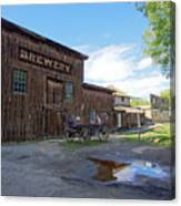 1863 H. S. Gilbert Brewery - Virginia City Ghost Town Canvas Print