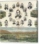 1866 Harpers Weekly View Of Salt Lake City Utah W Brigham Young Mormons Canvas Print