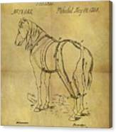 1868 Horse Harness Patent Canvas Print