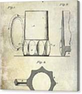1873 Beer Mug Patent Canvas Print