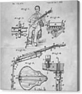 1873 Guitar Patent Blueprint Canvas Print