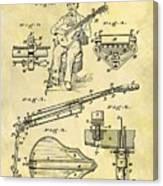 1873 Guitar Patent Canvas Print