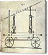 1875 Fire Extinguisher Patent Canvas Print