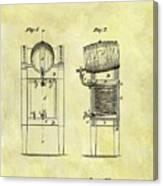1876 Beer Cooler Patent Canvas Print