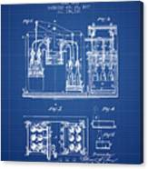 1877 Bottling Machine Patent - Blueprint Canvas Print