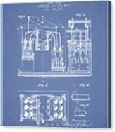 1877 Bottling Machine Patent - Light Blue Canvas Print