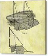 1882 Fishing Net Patent Canvas Print