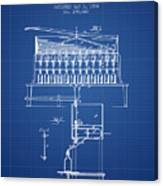 1884 Bottling Machine Patent - Blueprint Canvas Print