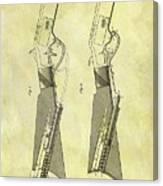 1884 Rifle Stock Patent Canvas Print