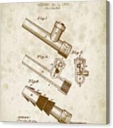 1885 Fire Escape Patent - Vintage Brown Canvas Print