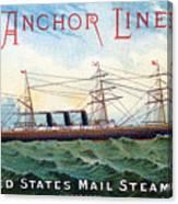 1885 Steamship City Of Rome Canvas Print