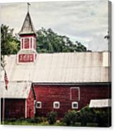 1886 Red Barn Canvas Print