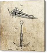 1887 Anchor Patent Canvas Print