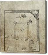 1887 Baseball Game Patent Canvas Print