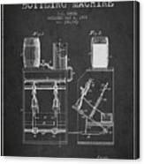 1888 Beer Bottling Machine Patent - Charcoal Canvas Print