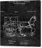 1888 Horse Drawn Carriage Canvas Print