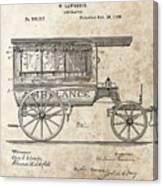 1889 Ambulance Patent Canvas Print