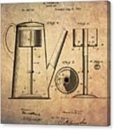 1889 Coffee Maker Patent Canvas Print
