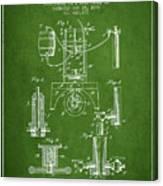 1890 Bottling Machine Patent - Green Canvas Print