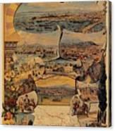 1890s Oriental Railways To Constantinople Canvas Print