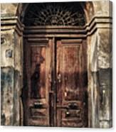 1891 Door Cyprus Canvas Print