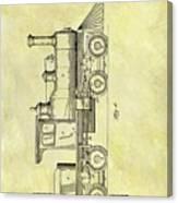 1891 Locomotive Patent Canvas Print