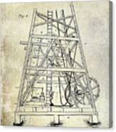 1893 Oil Well Rig Patent Canvas Print