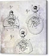 1893 Pocket Watch Patent Canvas Print