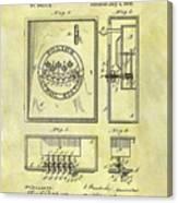 1895 Police Call Box Canvas Print
