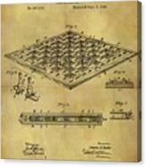 1896 Chess Set Patent Canvas Print