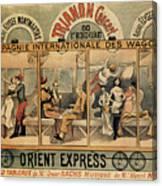 1896 Orient Express Musical Revue Paris Canvas Print