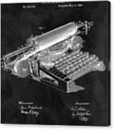 1896 Typewriter Patent Illustration Canvas Print