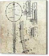 1897 Banjo Patent Canvas Print