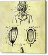 1897 Fireman's Inhaler Patent Canvas Print