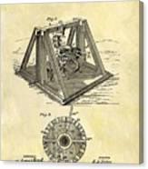 1897 Oil Rig Patent Canvas Print