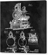 1898 Locomotive Headlight Patent Canvas Print