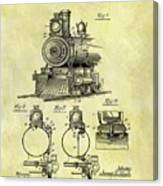 1898 Locomotive Patent Canvas Print