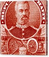 1898 President Of Haiti Stamp Canvas Print