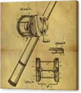 1899 Fishing Reel Patent Canvas Print