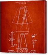 1899 Metronome Patent - Red Canvas Print