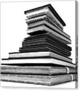 1.8.stack-of-sketch-books Canvas Print