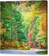 Autumn Season On Blue Ridge Parkway Canvas Print