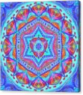 Birth Mandala- Blessing Symbols Canvas Print