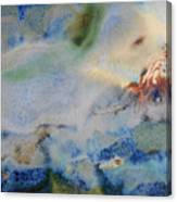 19. Blue Green Brown Abstract Glaze Painting Canvas Print