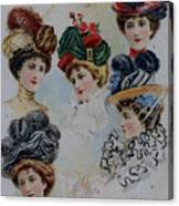 19 Century Ladies Hats The Delineator Early Autumn Hats Canvas Print