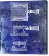 1900 Knife Switch Patent Blue Canvas Print