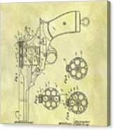 1901 Automatic Revolver Patent Canvas Print