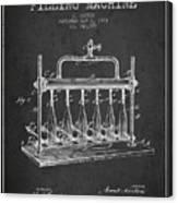 1903 Bottle Filling Machine Patent - Charcoal Canvas Print