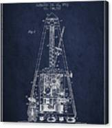 1903 Electric Metronome Patent - Navy Blue Canvas Print