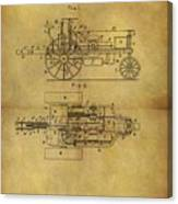 1903 Tractor Patent Canvas Print